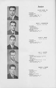 The Cypress Knee, 1942, Seniors, Milton Arden, Edwin E. Birkenhauer, Joseph E. Brown, John C. Calhoun, Hubert B. Darsey, pg. 06
