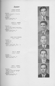 The Cypress Knee, 1942, Seniors, Nathan Diftler, Darwin E. Fender, James Floyd Goggins, Paul W. Groom, John A. Jarrell, pg. 7