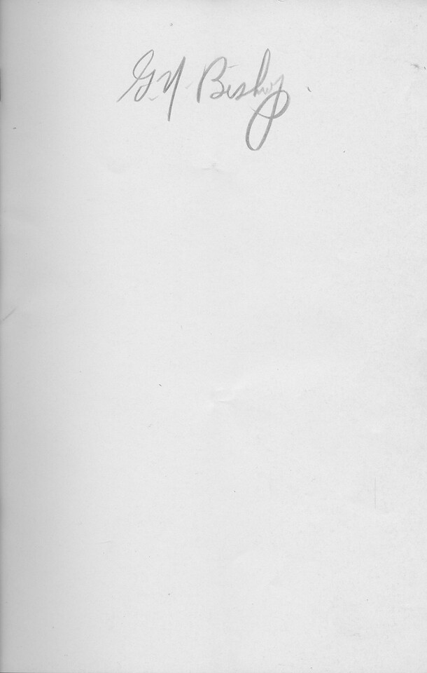 The Cypress Knee, 1942, Blank Page, Autograph, pg. A