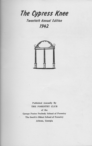 The Cypress Knee, 1942, Title Page, Pg. B