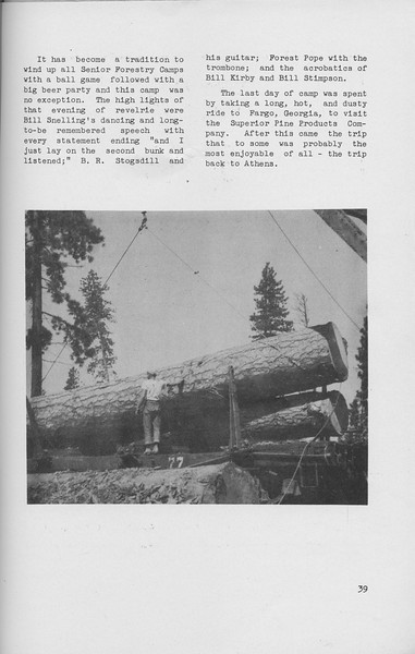 The Cypress Knee, 1942, 1941 Senior Spring Camp (continued), pg. 39