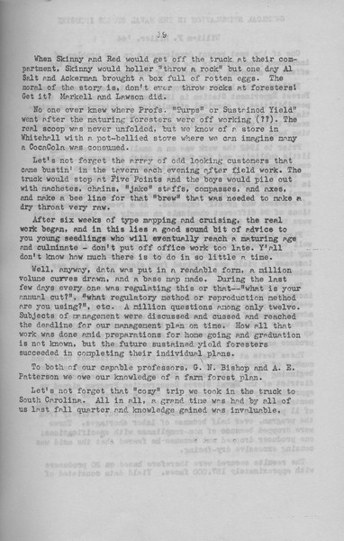 "The Cypress Knee, 1943, ""Senior Fall Camp '42"" (continued), Jack Geddos, pg. 19"