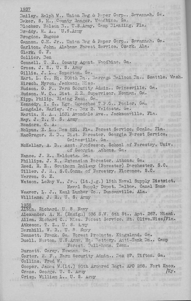 The Cypress Knee, 1943, Alumni Directory, pg. 26
