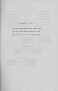 The Cypress Knee, 1943, Dedication, pg. 3