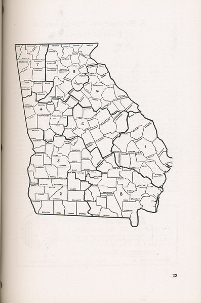 The Cypress Knee, 1946, Map of Georgia, pg. 23