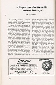 """The The Cypress Knee, 1946, """"A Report on the Georgia Forest Survey"""", B. F. Grant, The Lufkin Rule Co., pg. 22"""