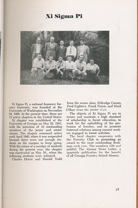 The Cypress Knee, 1946, Xi Sigma Pi, pg. 13