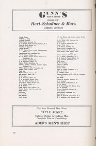 The Cypress Knee, 1946, Alumni Directory, Gunn's Men's Store, Style Mart, pg. 38