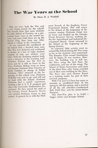 """The Cypress Knee, 1946, """"The War Years at the School"""", Dean D. J. Weddell, pg. 17"""