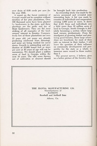 """The Cypress Knee, 1946, """"A Report on the Georgia Forest Survey"""" (continued), The Hanna Manufacturing Co., pg. 32"""
