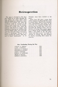 "The Cypress Knee, 1946, ""Retrospection"", pg. 15"