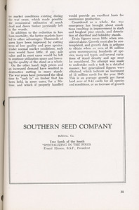 """The Cypress Knee, 1946, """"A Report on the Georgia Forest Survey"""" (continued), The Southern Seed Company, pg. 31"""