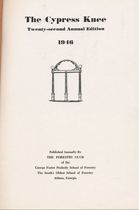The Cypress Knee, 1946, Title Page, pg. 1