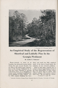 """The Cypress Knee, 1947, """"An Empirical Study of the Regeneration of Shortleaf and Loblolly Pine in the Georgia Piedmont"""", Archie E. Patterson, pg. 27"""