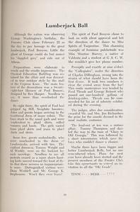 The Cypress Knee, 1947, Lumberjack Ball, pg. 20