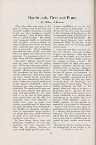 "The Cypress Knee, 1947, ""Hardwoods, Fires, and Pines"", Wilbur H. Duncan, pg. 29"