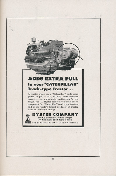 The Cypress Knee, 1947, Hyster Company, pg. 46