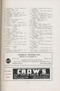 The Cypress Knee, 1947, Alumni Directory, Georgia Motors Inc., Crow's Cut Rate Drug Store, pg. 34