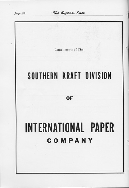 The Cypress Knee, 1948, International Paper Company, pg. 56