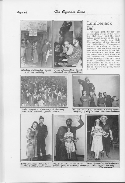 The Cypress Knee, 1948, The Lumberjack Ball, pg. 44