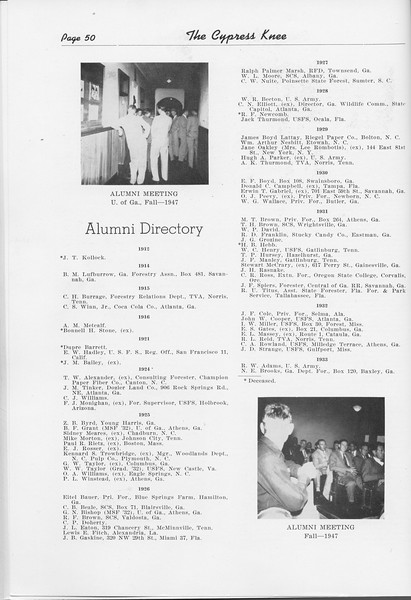 The Cypress Knee, 1948, Alumni Directory, pg. 50