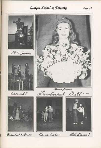 The Cypress Knee, 1949, Photo Collage- Harvest Ball, pg. 49
