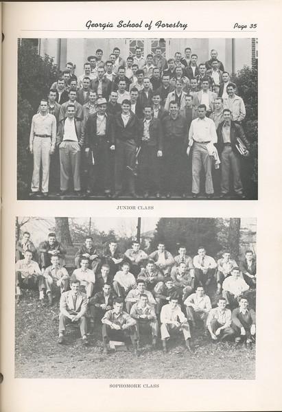 The Cypress Knee, 1949, Junior Class, Sophomore Class, pg. 35