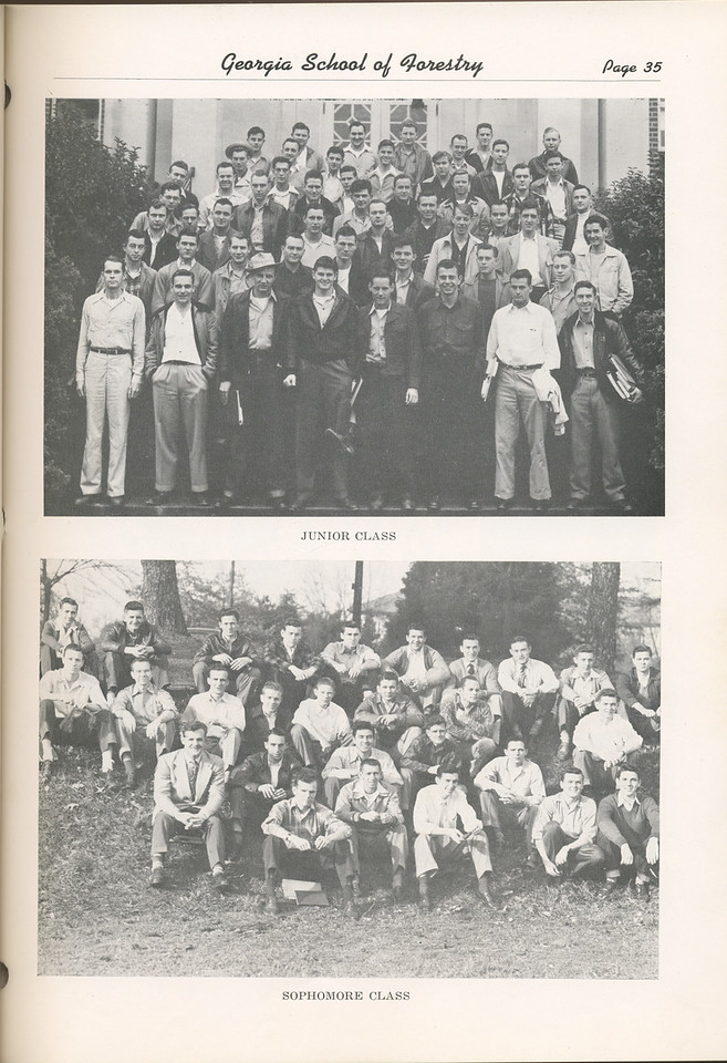 The Cypress Knee, 1949, Junior Class, Sophomore Class, pg. 35