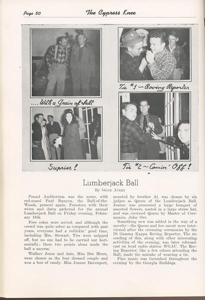 The Cypress Knee, 1949, Lumberjack Ball, Gene Avery, pg. 50