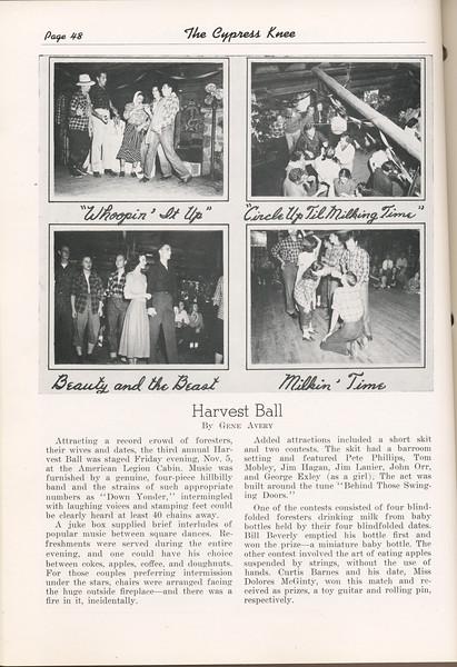 The Cypress Knee, 1949, Harvest Ball, Gene Avery, pg. 48