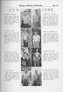 The Cypress Knee, 1950, Seniors, Donald L. Stewart, Carl H. St. John, William C. Sullivan, Jack E. Sykes, Verille G. Thigpen, Paul M. Thompson, Robert Hall Tift, Frank Edward TInker, pg. 23
