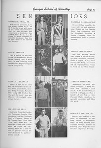 The Cypress Knee, 1950, Seniors, Charles R. Beall, Waverly C. Broadwell, Phil C. Beverly, Archie Paul Butler, Herman L. Branyan, James H. Chandler, Ira Leonard Bray, Horace G. Collier, pg. 13