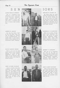 The Cypress Knee, 1950, Seniors, James Thomas Greene, Joseph H. Griggs, David Gordon Groom, John Aulden Haislet, Edward W. Hamby, Marshall E. Hamilton, Robert T. Hamlett, John Harry Hancock, pg. 16