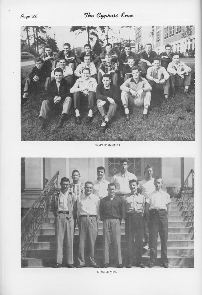 The Cypress Knee, 1950, Sophomore Class, Freshman Class, pg. 26