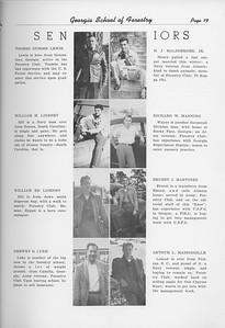 The Cypress Knee, 1950, Seniors, Toobs Dubose Lewis, William M. Lindsey, William Ed Lisenby, Drewery O. Luke, H. J. Malsberger, Richard W. Manning, Ernest J. Martinez, Arthur L. Massingille, pg. 19