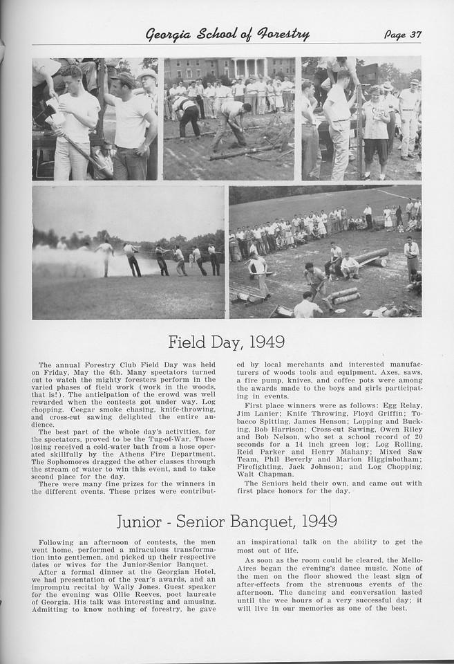 "The Cypress Knee, 1950, ""Field Day, 1949"", ""Junior-Senior Banquet, 1949"" pg. 37"