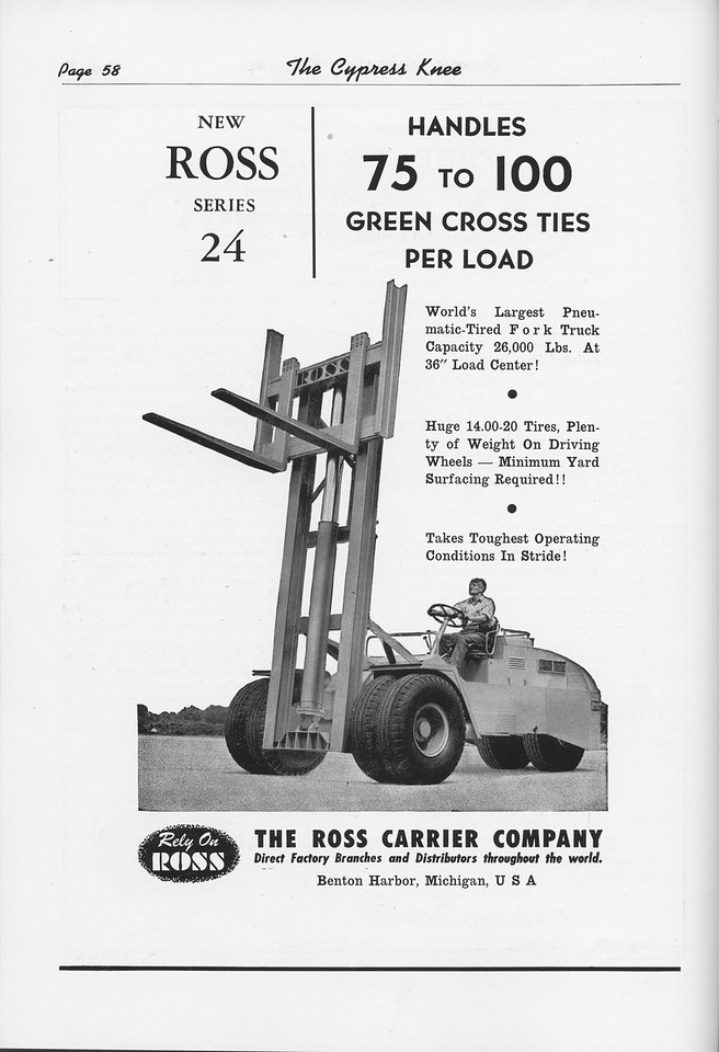 The Cypress Knee, 1951, The Ross Carrier Company, pg. 58