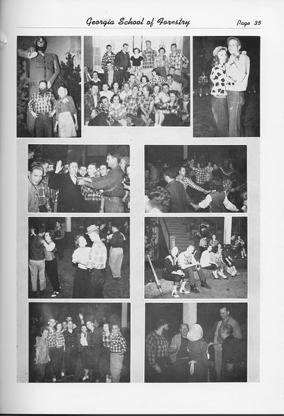 The Cypress Knee, 1951, Lumberjack Ball, Harvest Ball, pg. 35