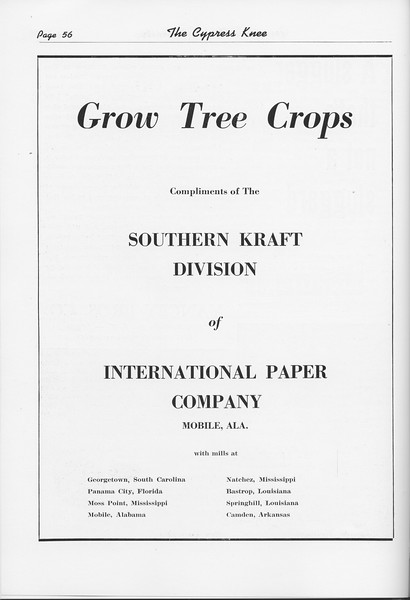 The Cypress Knee, 1951, International Paper Company, pg. 56
