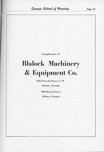 The Cypress Knee, 1951, Blalock Machinery and Equipment Co., pg. 51