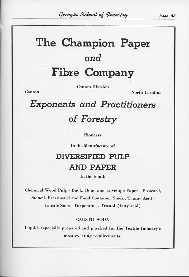 The Cypress Knee, 1951, The Champion Paper and Fiber Company, pg. 53