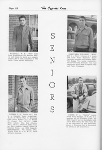 The Cypress Knee, 1951, Seniors, W. R. Randall, J. D. Ryder, William Sheppard, F. A. Smith, pg. 22