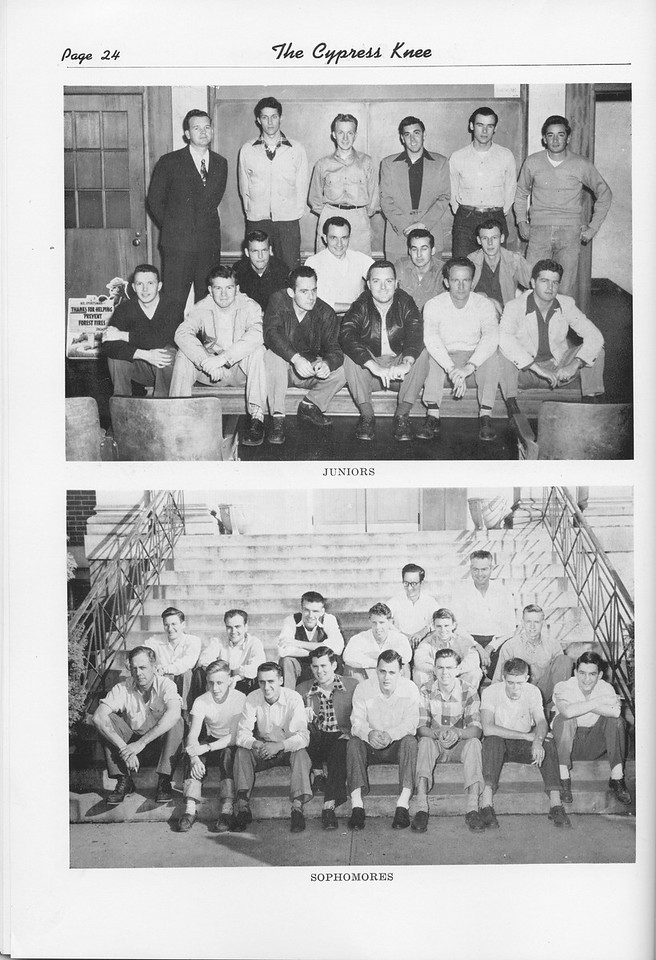 The Cypress Knee, 1951, Junior Class, Sophomore Class, pg. 24