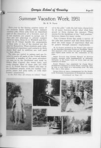 "The Cypress Knee, 1952, ""Summer Vacation Work, 1951"", R. N. Nash, pg. 27"