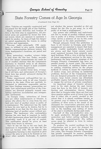 """The Cypress Knee, 1952, """"State Forestry Comes of Age in Georgia"""" (continued), pg. 49"""