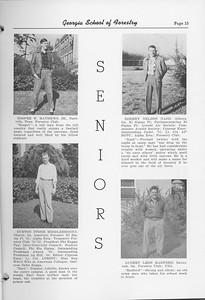 The Cypress Knee, 1952, Seniors, Hooper W. Mathews, Burton Stone Middlebrooks, Robert Nelson Nash, Audrey Leon Radford, pg. 15