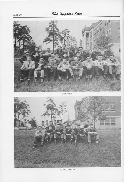 The Cypress Knee, 1952, Juniors, Sophomores, pg. 20