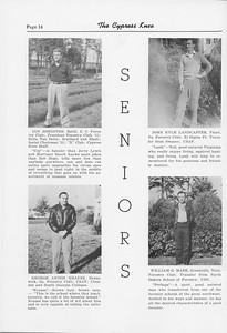 The Cypress Knee, 1952, Seniors, Coy Johnston, George Anton Krauss, John Kyle Landcaster, William G. Mabe, pg. 14