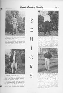 The Cypress Knee, 1952, Seniors, Raymond L. Spruill, John W. Swilley, Ernest Grier Tanner, William N. Thompson, pg. 17
