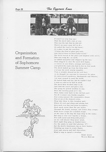 The Cypress Knee, 1954, Organization and Formation of Sophomore Summer Camp, Gerry Allen, Wayne Howard, pg. 22